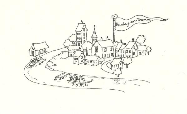 Today's #fundoodlefriday: Henley-On-Thames where the team are based.