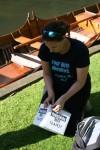 Fourbirdsaboating promo video shoot, Wargrave, summer 2013.