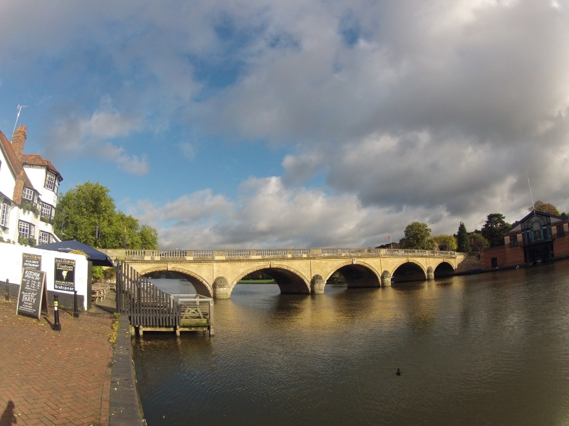 Post training session, nice to see the sun come out in Henley.