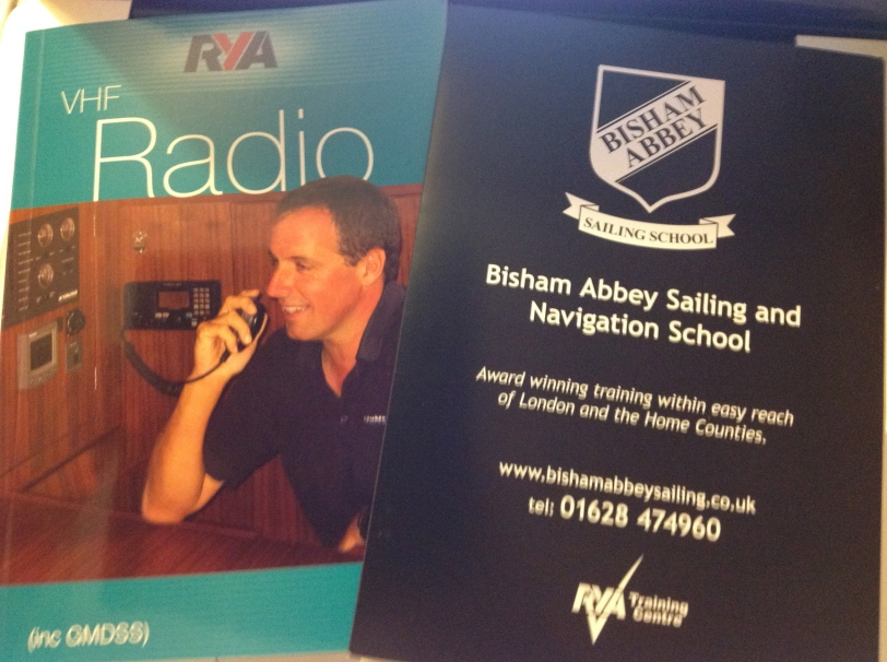 Swotting up ready for our RYA VHF Radio course.
